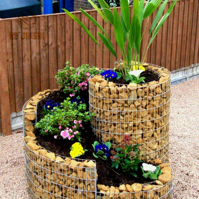 Gabion Planteur Flower Basket Bed